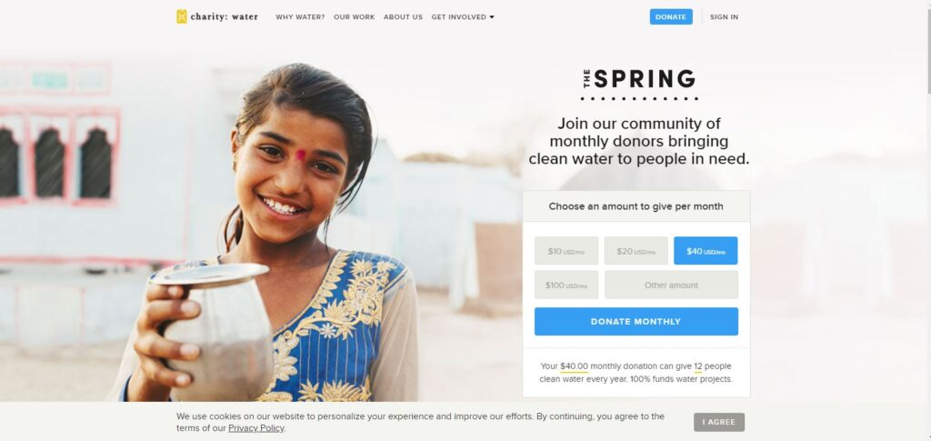 charitywater by visualdesigninc